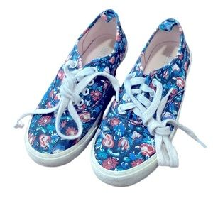 Old Navy size 13 girls floral sneakers shoes